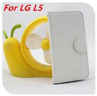 Multifunctional Wallet Leather Flip Cover Case  For LG Optimus L5 E610 E612 Card Holder 1PCS Hot Selling