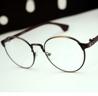 2013 women's vintage full metal reading eyeglasses frames round box plain glasses y563star brandkc
