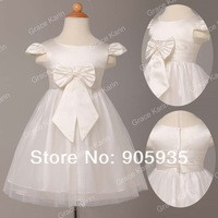 Fast Delivery!  flower girl dresses Children kids Tulle princess dress for wedding little girl party dress 2~12 age CL4838