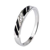 GNJ0466 NEW Free shipping 925 Sterling silver Jewelry Micro pave CZ crystal Lovers ring Romantic wedding ring for women or men