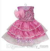 Fabulous Fairytale Princess Formal Dress Children Kids Girls Sequins Tulle Tiered Party Dress Ballet Skirt 1372