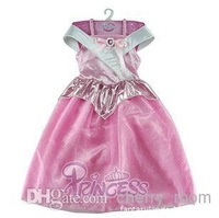 New Sleeping Beauty Princess Dress Children Cute Fairytale Princess Sequins Party Dress Girl Pink Dress Birthday Gift 1371