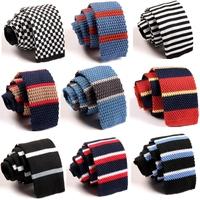 Buautiful Fashion Men's Colourful ZZLD021-040  Narrow Slim Skinny Woven Tie Knit Knitted Tie Necktie