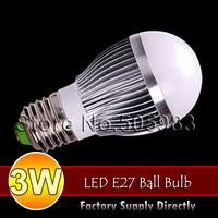 Fedex Ship Wholesale 100PCS 3W E27 110V 220V SMD 5630 Warm Nature White Light Energy Saving LED Globes Bubble Ball Bulb Lamp New