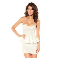 Fashion female fashion ol formal white gentlewomen tube top one-piece dress 2660 - 1