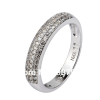 GNJ0467 Factory price Free shipping 925 Sterling silver Jewelry Micro pave CZ crystal Lovers ring Romantic gift wedding ring