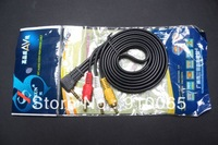 Free shipping/20pcs/High Quality 3.5mm Mini AV to 3 RCA Male Audio Video Cable About 1.5M New