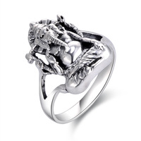 Free Shipping Wholesale Vintage Ring 925 Sterling Silver Ring Mens Punk Ring For Women Novelty Cool Elephant Rings