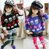 Wholesale Clothing child 2013 female child five-pointed star winter sweater children's clothing