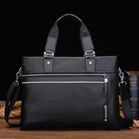 Commercial handbag casual messenger bag male shoulder bag genuine leather man bag leather bag horizontal computer