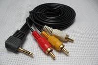 Wholesale 3.5mm Mini AV to 3 RCA Male Adapter Audio Video Cable  Free Shipping