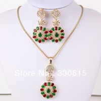 New 2013 dubai African Top high quality Vintage Fashion Bridal wedding Fashion Pendant Necklace Set jewelry set
