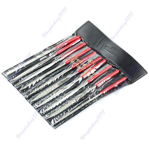 Set 10pcs 140mm Needle Files Jeweler Diamond Carving Craft Tool Metal Glass Stone Free Shipping(China (Mainland))