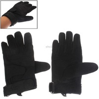 Stylish Black Men Protection Full-fingered Tactical Gloves