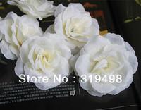 "New arrival (100pcs/lot )  cream white 8cm/3.15"" Artificial Silk Simulation Flower Head Rose Camellia Flower Head  Wedding"