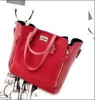 women's dull polish fashion handbag NEWEST EUROPEAN STYLE LADY FASHION DULL POLISH HANDBAGS with two bags free shipping