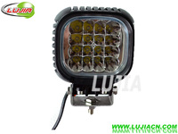 "Free Shipping 48W 5"" inch LED Work Light Cree 12V 24V 1700 lumen LED Offroad Fog light  IP67 6000K Pmma Lens for SUV 4WD ATV"