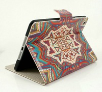 Brand Retro Colorful Flower Flip Magnetic Custom Stand Leather Cases Smart Cover For Apple ipad mini 1/2 Retina 2 3 4 Bags 0775