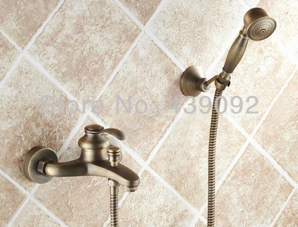 Robinetterie Salle De Bain Bronze : Wall-Mounted-Antique-Bathroom ...