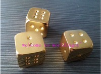 (lucyz0001) Gift for 50pcs Good Quality   Casino Playing Items  Gold Plated Dice and 1 troy ounce Dice