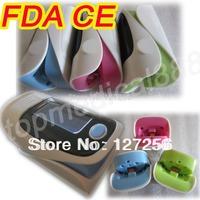 FDA CE finger pulse oximeter SPO2 PR oxygen monitor 5 colors + carrier case 100%warranty OLED 6 display modes FDA CE hot sale***