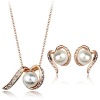 Italina Rigant Hot Sell Pearl Set For Women Gold Plated Jewelry Set Pearl Beautiful Christmas Gift