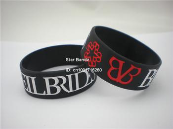 """1PC, ! Черный Veil Brides Wristband, 1"""" Wide Черный Bracelet For BVB Music Fans, ..."""