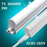 Free shipping 25pcs led tube t5 light 3pin 8w 2ft led t5 tube 600mm 600-800lm 85-265v led fluorescent tube t5 lamp hot selling