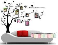 Black DIY Photo Frame Tree Flower Kids Art Mural Wall Sticker Decal Decor NEW