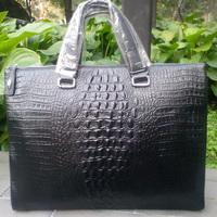 Genuine leather handbag ultra-thin male trend of the crocodile pattern black fashion man bag crocodile pattern handbag