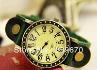 women dress watches vintage leather strap quartz watch DHL free shipping wholesale 100pcs/lot hot items 2013