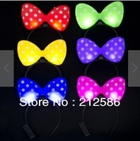 Free shipping 10pcs/lot led butterfly hairpin Butterfly headband for party, led butterfly headband for girls