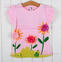 B2W2 brand 3D Flower korea design 5pcs / lot free shipping girls shorts kid t shirt a shorts clothing