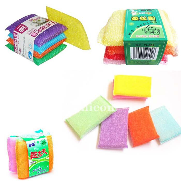Home Kitchen Sponge Scouring Pad Lump Wash Cleaning Dish Cleaning Washing(China (Mainland))