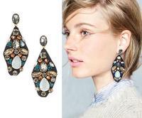 FREE Fashion J.e.w.e.l crew Women Girl Hot Accessories Cute Sweet Crystal zircon rhinestone Embroidered jewel statement earrings
