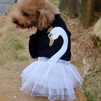 Chic Pet Dogs Swan Lace Tutu Dress Dogs Skirt Puppy Clothes Costume Teddy Shirt Free shipping & Drop shipping LX0200