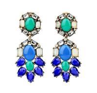 FREE Fashion J.e.w.e.l crew Peacock Chandeliers Mix colour Women Girls Crystal statement Earrings