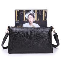 2013 Winter Genuine leather crocodile pattern day clutch shoulder bag purse fashion casual all-match 006