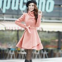 Women's trench autumn and winter overcoat 2013 winter woolen outerwear woolen skirt dress