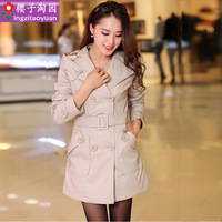 Trench female 2013 women's slim medium-long spring and autumn women's trench women outerwear