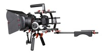 Kingjue KVS-2 professional video rig and support system with follow focus and matte box for studio photography