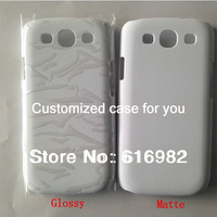 Free Shipping! DIY 3D Sublimation Heat Transfer Printing Hard Blank White Cases for Samsung Galaxy S3 i9300 100pcs/lot