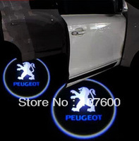 Car logo Shadow light for PEUGEOT The second generation 7W LED Car Door Welcome Light Laser Lights with car logo Shadow light