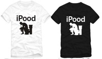 factory outlet hot sale ipood i pooed printed t shirt funny ipod nano 6 tshirt tops 100% cotton short sleeve tee shirt r