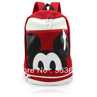 Wholesale free shipping fashion high quality carton mouse bag messenger backpack school bags travel bag laptop bag 3pcs/lot