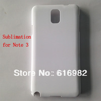 for Samsung galaxy note 3 3D pure white sublimation blank shell case . full area printable free shipping