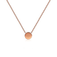 Woah , small beans gold 18k rose gold chain fashion necklace female color gold accessories