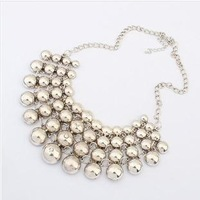 Min.order is $10 vintage Statement Necklace Bubble  Free Shipping Metal Multilayer vintage Chokers Chains Necklace Collar