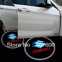 Car logo Shadow light for SUZUKI The second generation 7W LED Car Door Welcome Light Laser Lights with car logo Shadow light