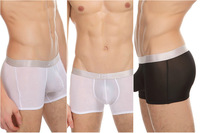New 2014 free shipping promotion male pure color underwear sexy sports men underwear large size M L XL